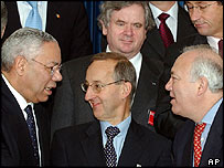 US Secretary of State Colin Powell and Nato foreign ministers