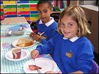 children at breakfast club