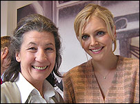 Liccy (left) and Sophie Dahl