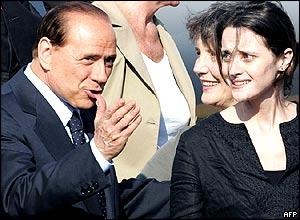 Cantoni and PM Berlusconi