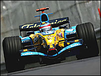 Fernando Alonso in practice for the Canadian Grand Prix