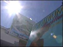 Un solarium en Punta Arenas, Chile