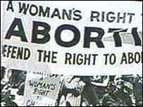 File photo of pro-choice march in the 1970s