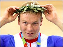 Chris Hoy wins Olympic gold in Athens