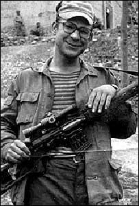 Vladimir Grigoryev in Panjsher Valley, Afghanistan, 1986 (photo courtesy of same)