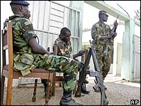 Soldiers guard Ghana's Electoral Commission