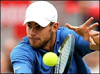 Andy Roddick in action at Queen's