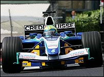 Felipe Massa in action for Sauber