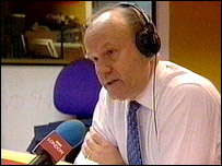 Sir John Stevens at the BBC London 94.9 studios