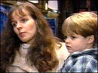 Juliet Anderson and her son Alex, 3.