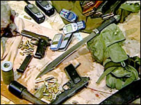 أسلحة عثرت عليها قوات الأمن