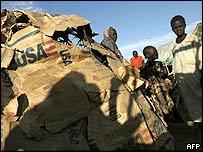 Sudanese refugees in a camp near Nyala in Darfur
