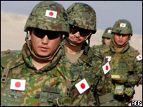 Soldiers from the Japanese Ground Self Defence Force in Northern Kuwait, November 2004