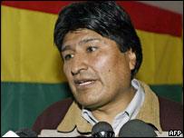 Mas leader Evo Morales