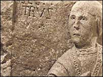 Stone carving of St Peter