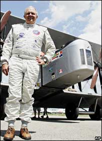 Steve Fossett and the replica Vimy