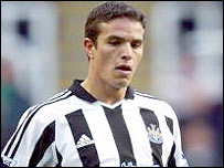 Newcastle winger Laurent Robert