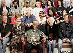 Nelson Mandela and 46664 Arctic concert artists