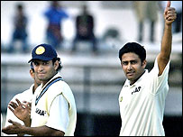 Kumble broke the Indian record in his 91st Test for his country