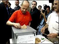Michel Aoun voting