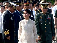 Philippine President Gloria Arroyo at the Independence Day celebrations, 12 June 2005