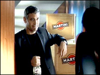 George Clooney in Martini ad grab