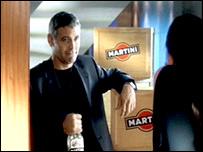 George Clooney in Martini ad grab