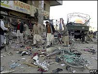 Blast site in Quetta