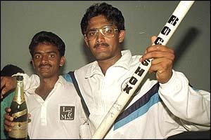 Anil Kumble (right)
