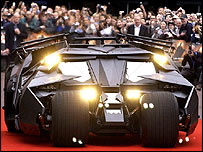 Batmobile in London's Leicester Square