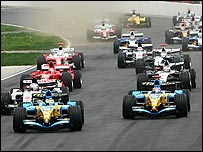 Giancarlo Fisichella and Fernando Alonso start strongly in Montreal