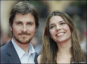 Christian Bale and his wife, Sibi Blazic