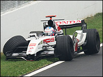 Jenson Button comes a cropper in Montreal