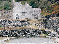 An example of mine buildings - picture courtesy of Welsh Mines Preservation Trust