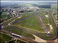 An aerial view of Silverstone