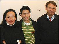 Luetfiye Duyan (left) with son Serdlar and husband Ilker