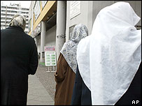 Women wearing Muslim headscarves in Berlin