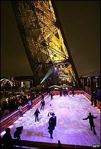 Eiffel Tower's ice rink