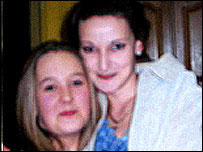 Hayley Richards, right, with her niece Charlotte Green