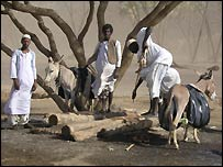 Beja people in eastern Sudan