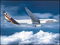 The planned Airbus A350-800 will have a range of 8,600 miles ©Airbus