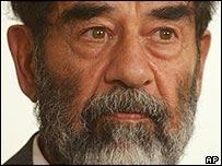 Saddam Hussein (file pic)