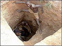 Niño minero en Congo