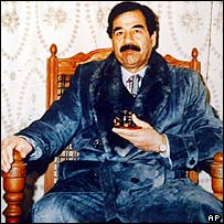 Saddam Hussein photographed during his years in power