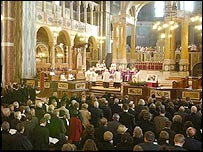 Memorial service at Westminster Cathedral, London