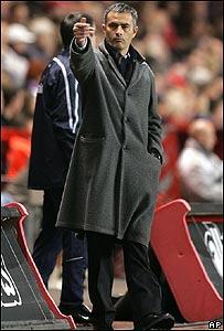 Jos� Mourinho, director t�cnico del Chelsea