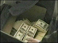 Undercover footage of the counterfeit money