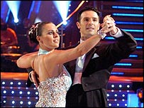 Jill Halfpenny and dance partner Darren Bennett