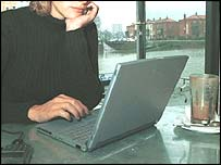 woman and laptop generic