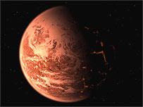 Artist's impression of exoplanet (Trent Schindler/NSF)